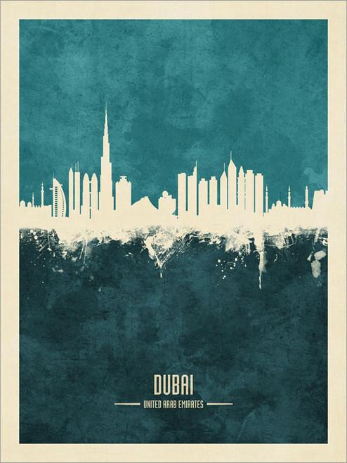 Dubai UAE Skyline Cityscape Poster Art Print