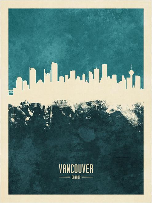 Vancouver Canada Skyline Cityscape Poster Art Print