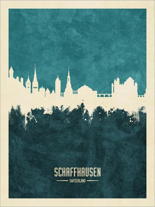 Schaffhausen Switzerland Skyline Cityscape Poster Art Print