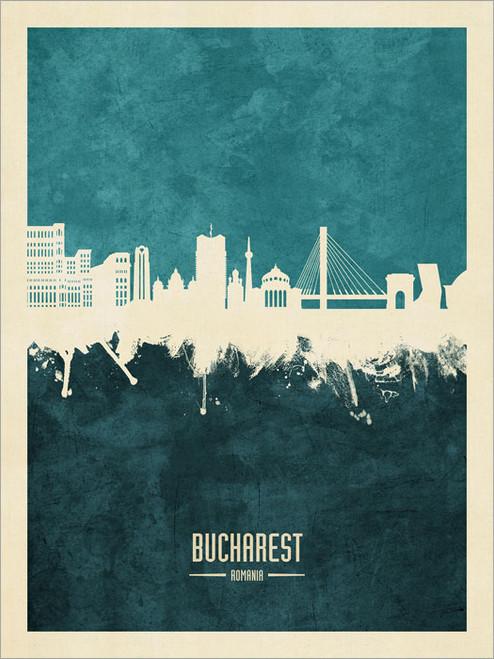 Bucharest Romania Skyline Cityscape Poster Art Print