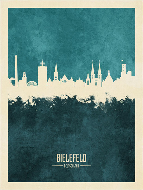 Bielefeld Deutschland Skyline Cityscape Poster Art Print