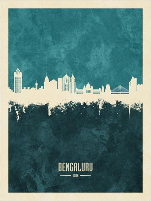 Bengaluru India Skyline Cityscape Poster Art Print