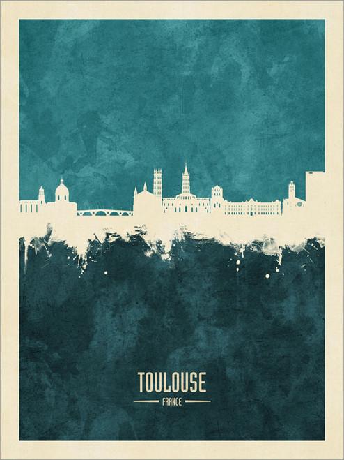 Toulouse France Skyline Cityscape Poster Art Print