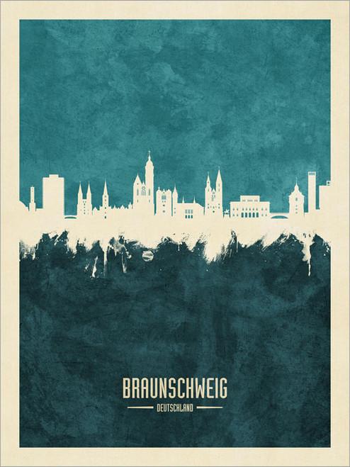 Braunschweig Deutschland Skyline Cityscape Poster Art Print