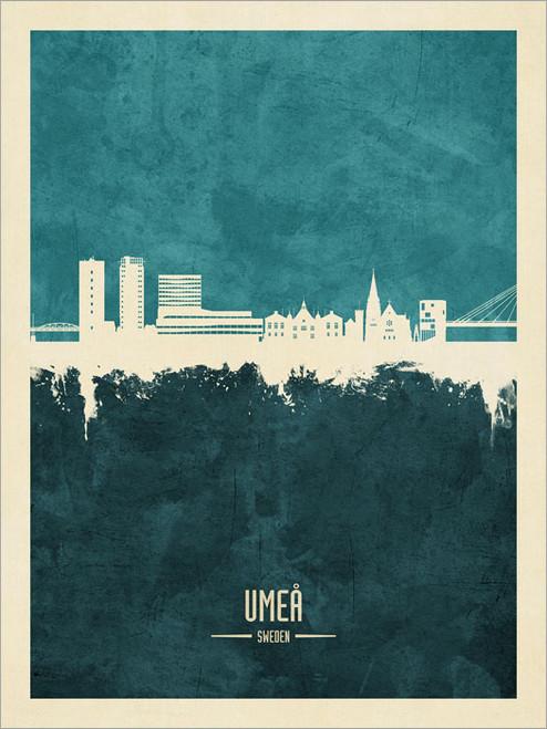 Umeå Sweden Skyline Cityscape Poster Art Print