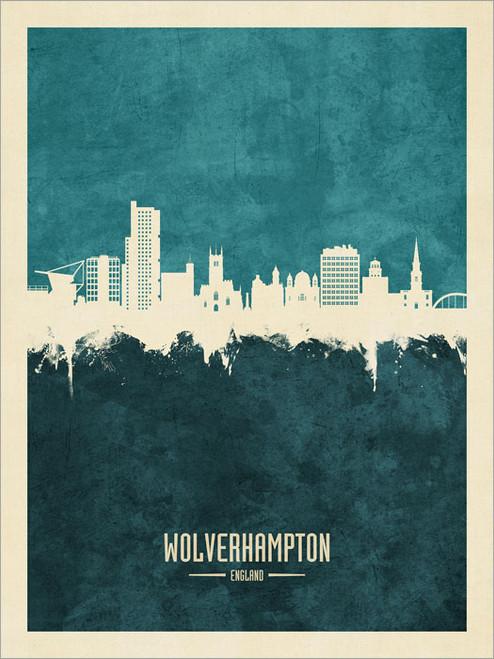 Wolverhampton England Skyline Cityscape Poster Art Print
