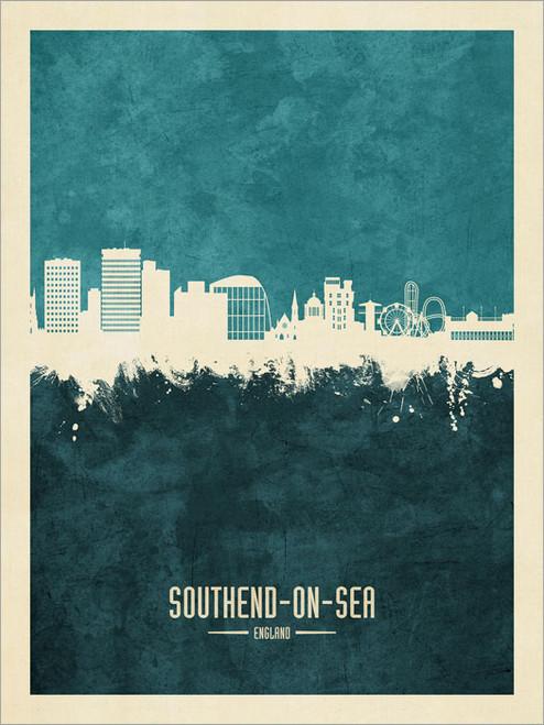 Southend-on-Sea England Skyline Cityscape Poster Art Print