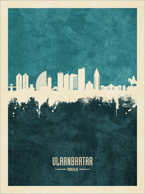 Ulaanbaatar Mongolia Skyline Cityscape Poster Art Print