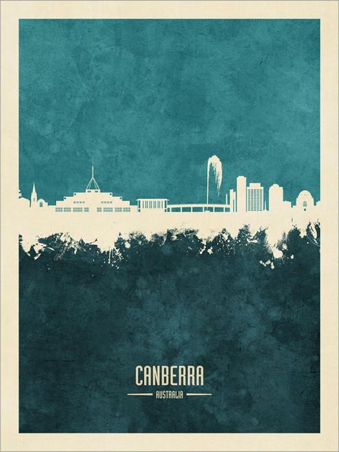 Canberra Australia Skyline Cityscape Poster Art Print