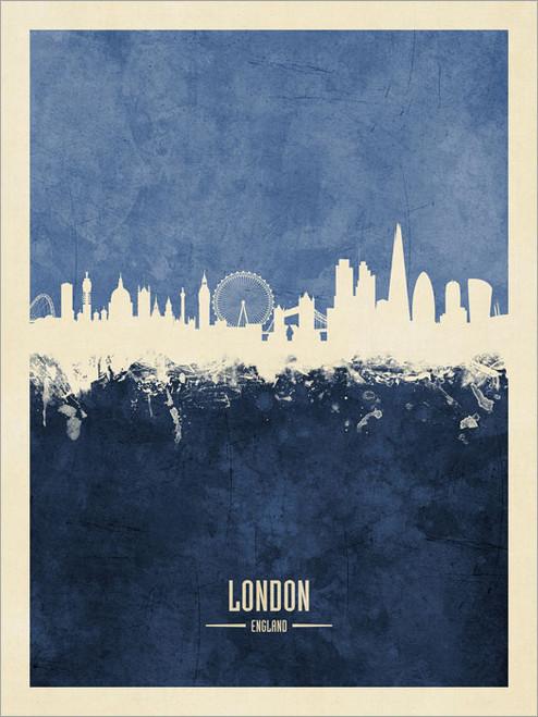 London England Skyline Cityscape Poster Art Print