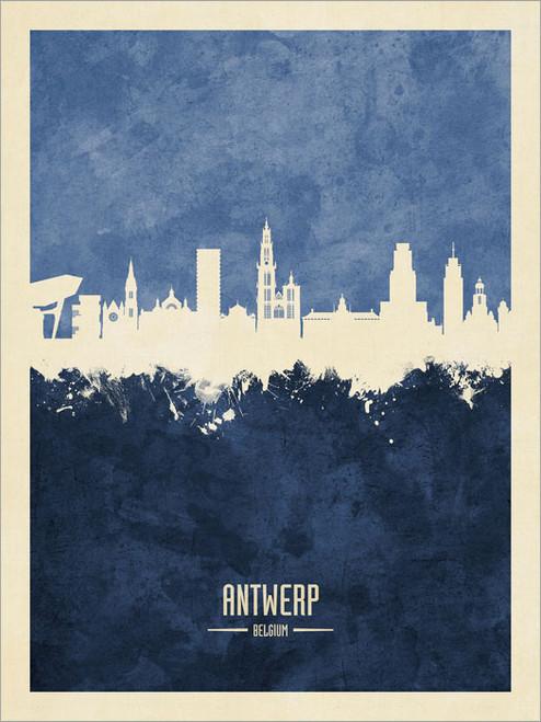 Antwerp Belgium Skyline Cityscape Poster Art Print