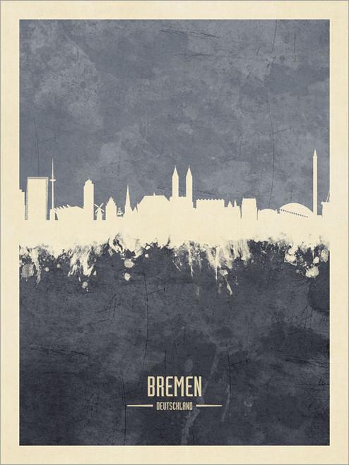 Bremen Germany Skyline Cityscape Poster Art Print