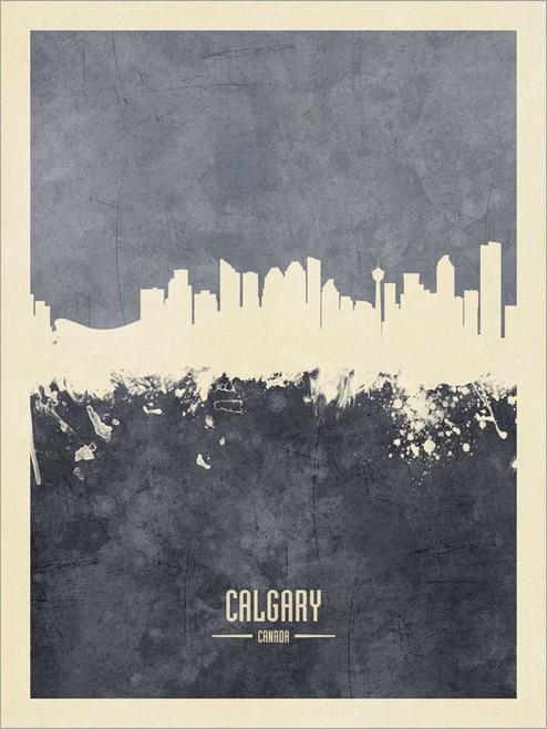 Calgary Canada Skyline Cityscape Poster Art Print