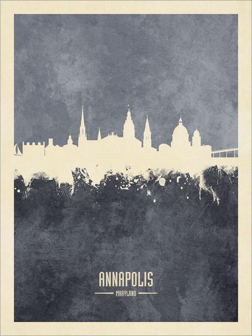 Annapolis Maryland Skyline Cityscape Poster Art Print