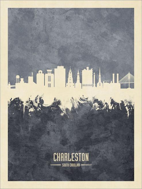 Charleston South Carolina Skyline Cityscape Poster Art Print