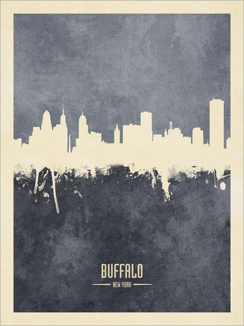 Buffalo New York Skyline Cityscape Poster Art Print