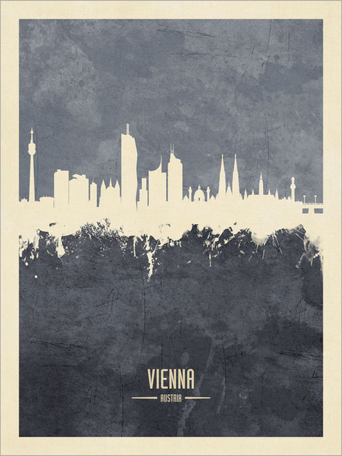 Vienna Austria Skyline Cityscape Poster Art Print