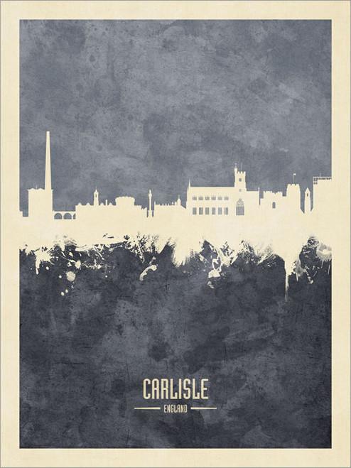 Carlisle England Skyline Cityscape Poster Art Print