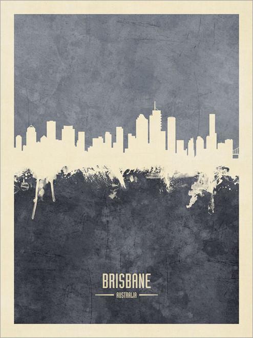 Brisbane Australia Skyline Cityscape Poster Art Print