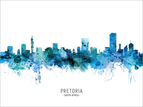 Pretoria South Africa Skyline Cityscape Poster Art Print