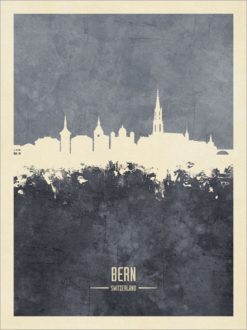 Bern Switzerland Skyline Cityscape Poster Art Print