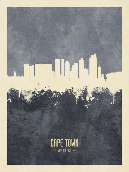 Cape Town South Africa Skyline Cityscape Poster Art Print