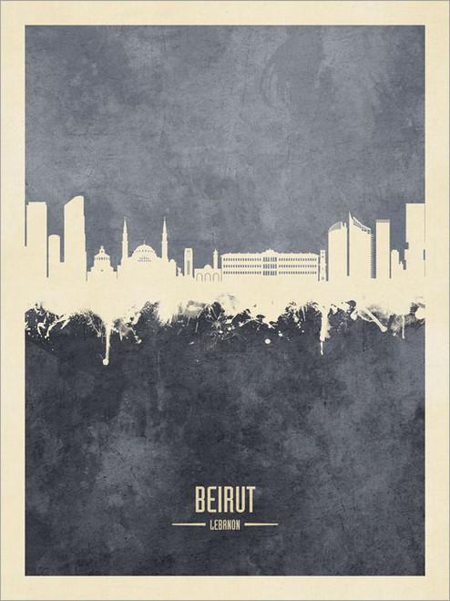 Beirut Lebanon Skyline Cityscape Poster Art Print