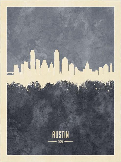 Austin Texas Skyline Cityscape Poster Art Print