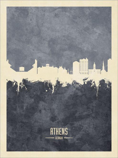 Athens Georgia Skyline Cityscape Poster Art Print
