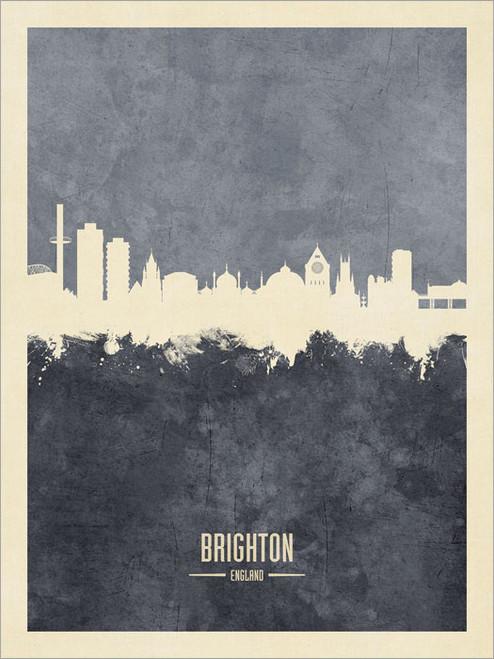 Brighton England Skyline Cityscape Poster Art Print