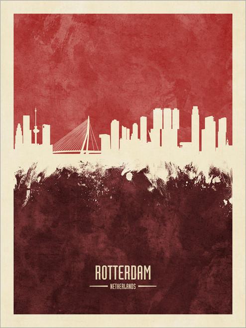 Rotterdam Netherlands Skyline Cityscape Poster Art Print