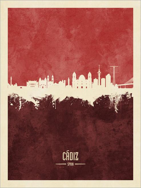 Cádiz Spain Skyline Cityscape Poster Art Print