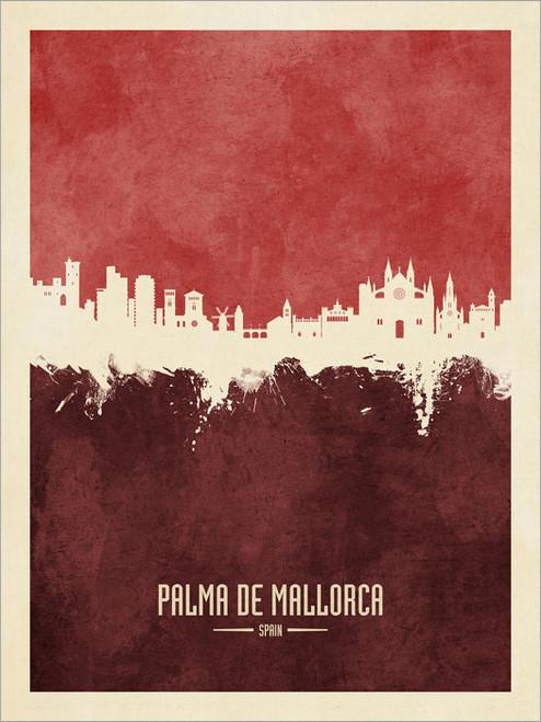 Palma de Mallorca Spain Skyline Cityscape Poster Art Print