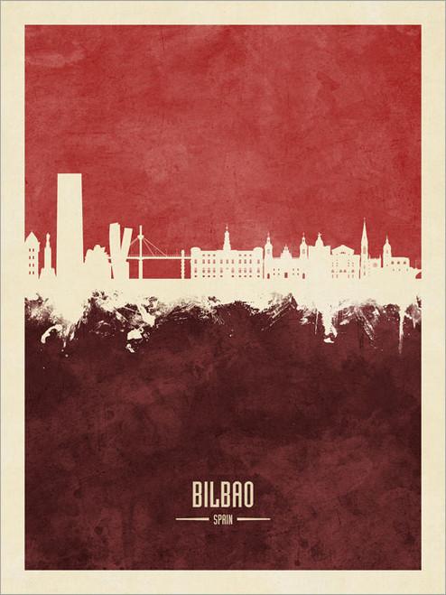 Bilbao Spain Skyline Cityscape Poster Art Print