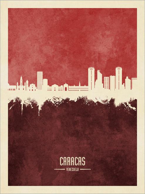 Caracas Venezuela Skyline Cityscape Poster Art Print
