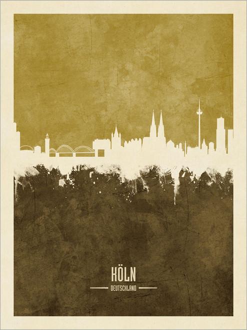 Cologne Germany Skyline Cityscape Poster Art Print