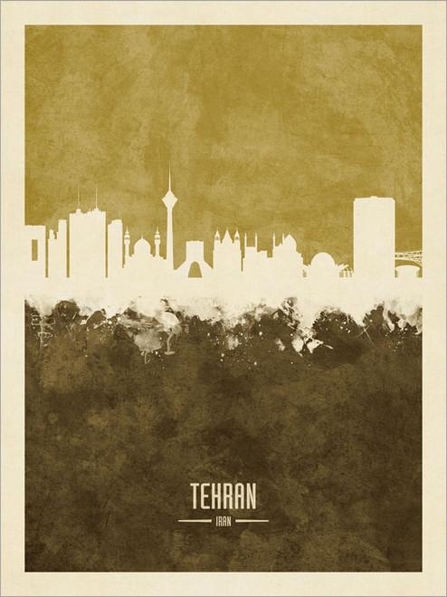 Tehran Iran Skyline Cityscape Poster Art Print