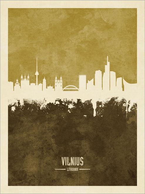 Vilnius Lithuania Skyline Cityscape Poster Art Print