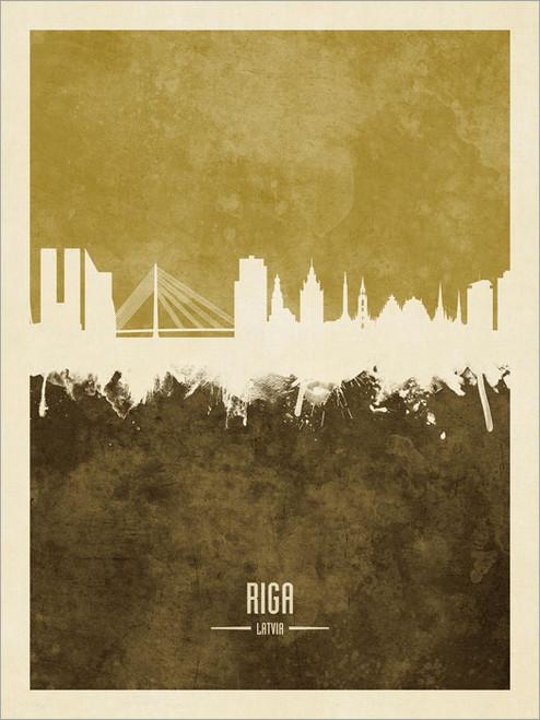 Riga Latvia Skyline Cityscape Poster Art Print