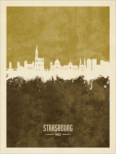 Strasbourg France Skyline Cityscape Poster Art Print