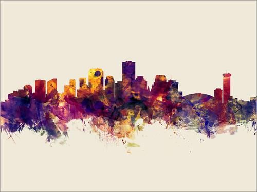 New Orleans Louisiana Skyline Cityscape Poster Art Print