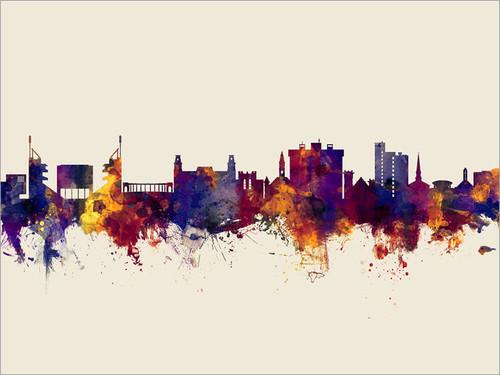 Fayetteville Arkansas Skyline Cityscape Poster Art Print