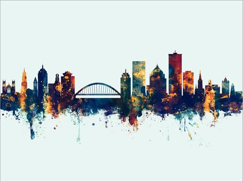 Rochester New York Skyline Cityscape Poster Art Print