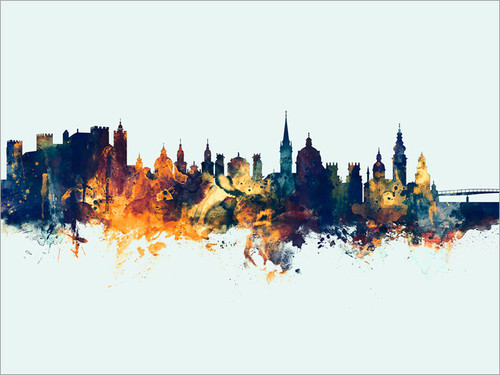 Salzburg Austria Skyline Cityscape Poster Art Print