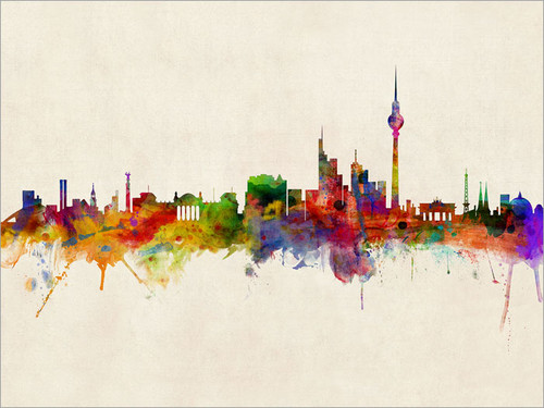 Berlin Germany Skyline Cityscape Poster Art Print