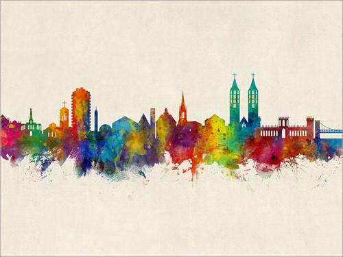 Kassel Germany Skyline Cityscape Poster Art Print