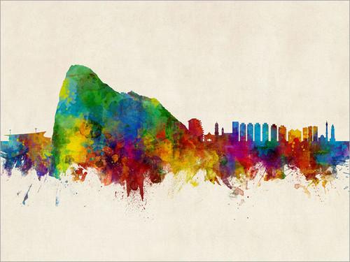 Gibraltar Skyline Cityscape Poster Art Print