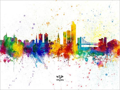 Oslo Norway Skyline Cityscape Poster Art Print