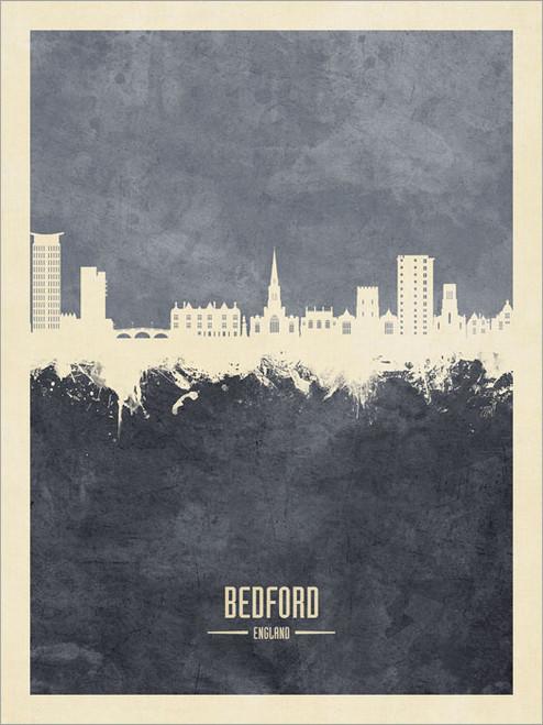 Bedford England Skyline Cityscape Poster Art Print