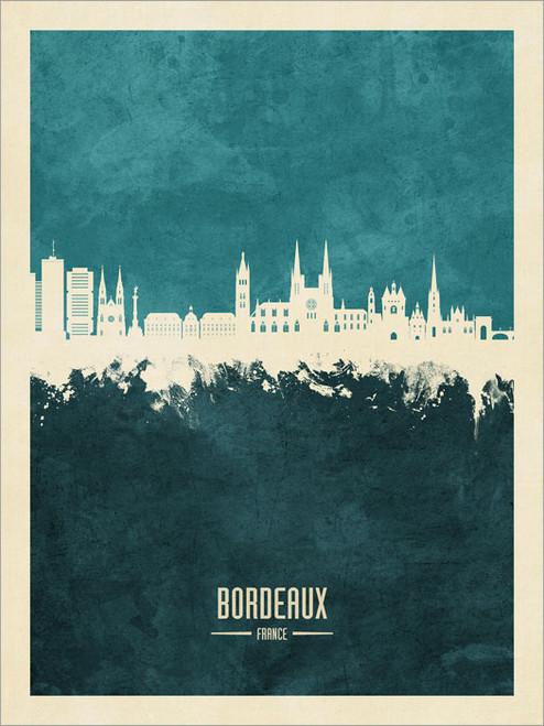 Bordeaux France Skyline Cityscape Poster Art Print